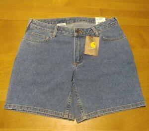 Carhartt Shorts Women's Size 8 Classic Blue Denim WB063 FBI