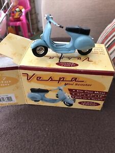 1997 Xonex Collectors Edition Vespa Scooter In Baby Blue Mint Condition In Box