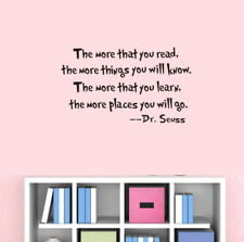 Dr. Seuss Room Decor Art Quote Wall Decal Stickers Removable Mural DIY PVC