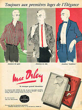 PUBLICITE ADVERTISING 045  1958  MAC ORLEY   chemises homme