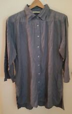 Soft Surroundings  Button Down Blue Denim Shirt Top Large L
