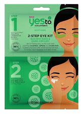 Yes To Cucumbers 2 STEP Bags/Dark Circle EYE KIT Mask & Treatment: Single Use