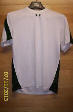 Under Armour short sleeve white shirt Mens Small EUC