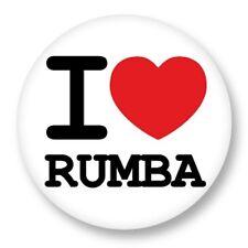 Pin Button Badge Ø38mm ♥ I Love You Danse Danse Dance Musique Music Rumba