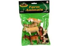 Plastic Farm / Wild / Bugs Animals Toy Figures Set of 6