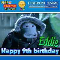 Personalised PG Tips Monkey - Cute Birthday Greeting Card A5