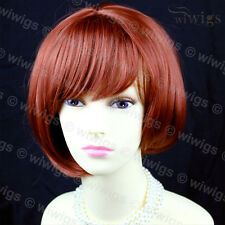 Wiwigs Dark Copper Red Short Posh Asymetric Bob Ladies Wig