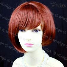 Asymetric Posh Bob Short Dark Copper Red Ladies Wig From WIWIGS UK