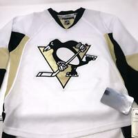 Pittsburgh Penguins White Hockey Jersey Stitched Logo Reebok NHL Youth S/M