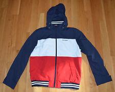 Tommy Hilfiger Red White Blue Hooded Jacket Men's M Medium