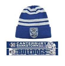 d30b883998a SET OF 2 CANTERBURY BULLDOGS NRL TEAM WOZZA BEANIE   ALLIANCE JACQUARD SCARF