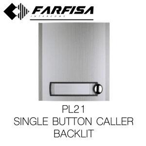 FARFISA PL21 MOD.1 ADDITIONAL BUTTON INTERCOM CALL MODULE