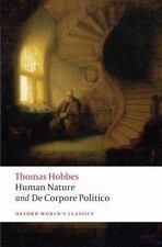 Oxford World's Classics: Human Nature and de Corpore Politico Pts. 1 & 2 by...