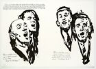 Raymond Pettibon: Untitled (The Wind Whispers), 2000. Signed, Numbered Print