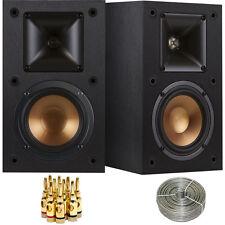Klipsch R-14M Reference Bookshelf Monitor Speakers Bundle Inc Bonus Wires & More