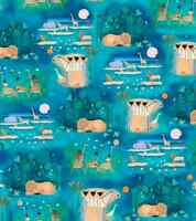 THE MIGRATION Jungle Animals SCENIC 100% cotton quilting fabric by the yard