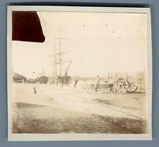 France, Le Havre Vintage citrate print.  Tirage citrate  7,5x8,5  Circa 19