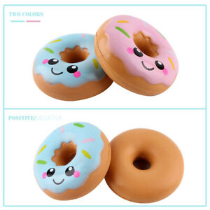 2Pcs Slow Rebound Donut Child Vent Toys Kids Pinch Decompression Toys