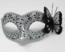 Noir argent bijou papillon masque vénitien mascarade Partie Carnaval Bal boule
