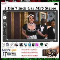 7''2 DIN Touch screen Autoradio Bluetooth Link Specchio AUX/TF/FM/USB Stereo MP5