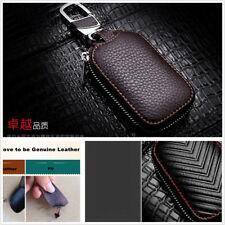 NEW Genuine Leather Key Holder Men and Women Key Purse Key Case Car -Big Brown