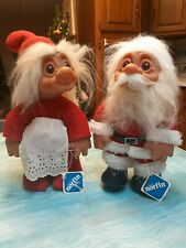 New Listingadopt a Norfin Grandma and Grandpa Claus Troll dolls style 7003 and 7004 by Dam
