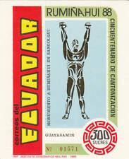 Ecuador - 1989 - SC 1198 - MH - Souvenir sheet