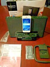 SONY Dream Machine ICF-CS15iP Black With IPhone Dock clock radio remote