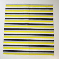 2er Set Stoff- Servietten Baumwolle 40 x 40 cm gelb grau schwarz weiß gestreift