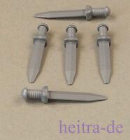 LEGO - 5 x Schwert silber römisch / Gladiator / Roman Gladius / 95673 NEUWARE