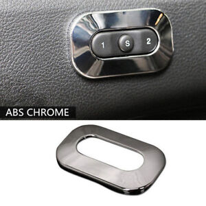 ABS Chrome Seat Switch Button Cover Trim fits Jeep Grand Cherokee Dodge Durango