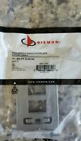 SIEMON MAX Modular Faceplate 4-Port Grey, MX-FP-S-04-04 - 800149897 Lot of 6
