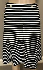 Japanese Designer  Yoshi Kondo Striped Black and White Cotton Skirt sz small