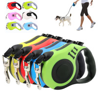 Retractable Dog Lead Tape Walk Extendable Leash 3M 5M Pet Training Heavy Duty UK