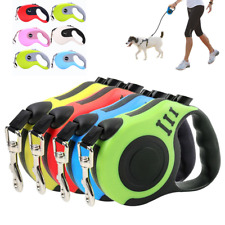Retractable Dog Lead Tape Walk Extendable Leash 3M 5M Pet Training Heavy Duty UK