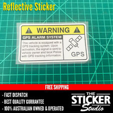 Warning GPS Alarm System Sticker Decal Funny Work Truck Ute Reflective #2