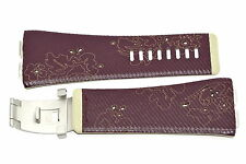 NIKE MERGE ATTRACT PURPLE TAN REPLACEMENT RUBBER WATCH BAND WC0024 618