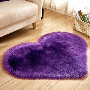 Anti-Skid Shaggy Area Rug Dining Room Wool Imitation Sheepskin Fur Non Slip