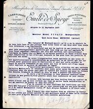 """AVIGNON (84) CARREAUX en Ciment / CARRELAGE de luxe """"Emile de SPEYR"""" en 1907"""