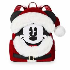 Disney LOUNGEFLY Mini Backpack - SANTA MICKEY MOUSE Holiday/Christmas