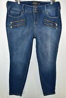 Torrid Premium Jegging Stretch Zipper Jeans Womens Size 18S Blue Meas. 36x27