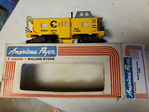 American Flyer 4-9400 S Gauge B&O Chessie System Bay Window Caboose Yellow 1979