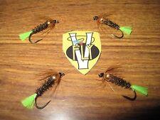 4 NUOVO Coldingham Loch Custom Stick Fly s10 Trota Mosche