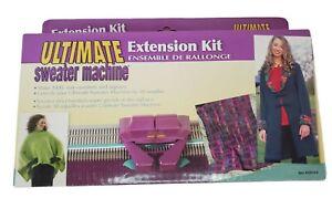 ULTIMATE SWEATER MACHINE EXTENSION KIT NEW SEALED XXXL Capacity 30 Needles