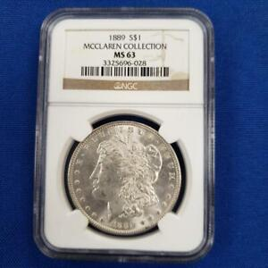 1889 US Morgan Silver $1 NGC MS 63 MCCLAREN COLLECTION L9995