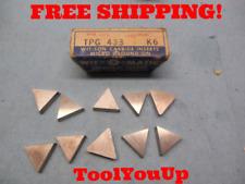 10pc New Wit O Matic Tpg 433 K 6 Inserts Cnc Tooling Machinist Shop Tools