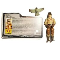 Vintage GI Joe Loose ARAH Raptor With Original File Card
