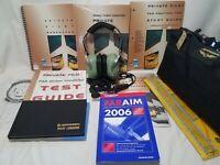 NEW Jeppesen Private Pilot Kit-Part 61 + Used David Clark H10-66 Headset, etc j0