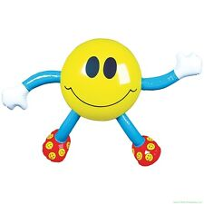 "22"" Smiley Happy Smile Face Inflatable Figure Man ~ Party Blow up Inflate Toy"