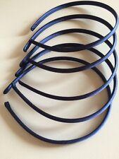 CERCHIETTI per CAPELLI cerchietto base Blu RASO 8mm Stock 5 pezzi Prezzo Super
